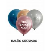 BALÃO DE LATEX 9'' CROMADO - PACOTE C/ 100 UNIDADES