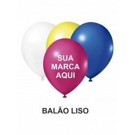 BALÃO DE LATEX 9'' LISO PERSONALIZADO - PACOTE C/ 100 UNIDADES