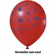 Aranha 9'' Vermelho/Azul - Pct. 25 Unid.