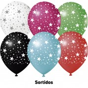 Estrelas 9'' Sortidas - Pct. 25 Unid.