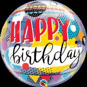 Bubble 24'' Happy Birthday Collor - Unid. 10052b