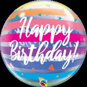 Bubble 24'' Happy Birthday Listras - Unid. 13037b