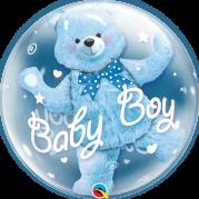 Bubble 24'' Urso Azul Baby Boy - Unid. 29486b-f