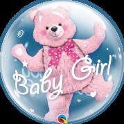 Bubble 24'' Urso Rosa Baby Girl - Unid. 29488b-f