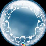 Bubble 24'' Corações Elegantes - Unid. 29505b-feb