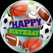 Bubble 24'' Happy Birthday Esportes - Unid. 34821b-f