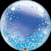 Bubble 24'' Pontos de Confete Azul - Unid. 57789b-feb