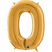 Número 0 a 9 26'' Ouro - Unid.