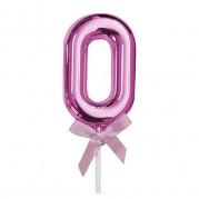 Topo de Bolo 0 a 9 5'' Ouro Rose - Unid.