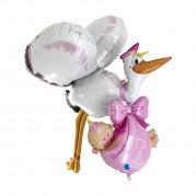 Cegonha Baby Rosa 3D - Unid. 73050