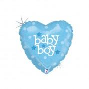 Coração Baby Boy 18'' - Unid. 86601h