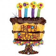 Bolo Happy Birthday HSG - Unid. 85675