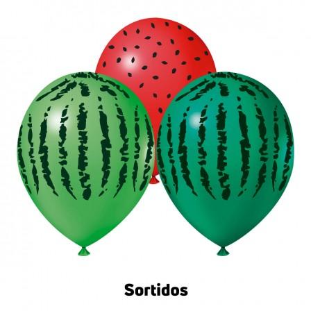 Melancia 9'' Sortidos - Pct. 25 Unid.